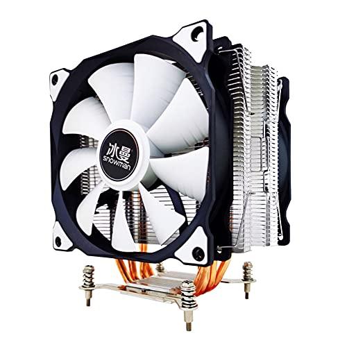 QINGCHU Silbato de calor PWM de 120 mm, 4 pines, CC 12 V, disipador de calor para CPU Intel y AMD CPU, ventilador PWM de 120 mm
