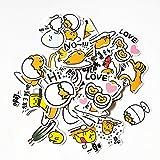 PMSMT 40 unids/Bolsa Sanrio Novedad Japonesa Gudetama Huevo Perezoso Dibujos Animados Pegatina Divertida para Coche portátil Bicicleta Equipaje Pegatinas Impermeables