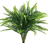 XIABAN Künstliche Pflanzen Gefälschte Pflanzen 4 Stück Künstliche Farne Boston Spring Zweige Pflanzen Grüne Pflanzen Künstliche Blumensträuße Gefälschte Farne für die Dekoration des Wohnzimmers