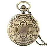 DZNOY Reloj de Bolsillo, Collar de Cuarzo de Bronce Colgante Relojes Casuales Hombres Reloj Regalos de cumpleaños para niños niños Reloj de Bolsillo (Color : Bronze)