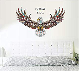 Fashion Purple Tulips Flowers Wall Stickers For Living Room Diy 3d Home Decor (eagle)