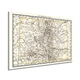 HISTORIX Vintage 1879 Colorado Map Poster - 24x36 Inch Vintage Colorado Map - Old State Map of Colorado Wall Art - Historic Colorado Wall Map Showing Railroads Counties Cities Towns Rivers (2 Sizes)