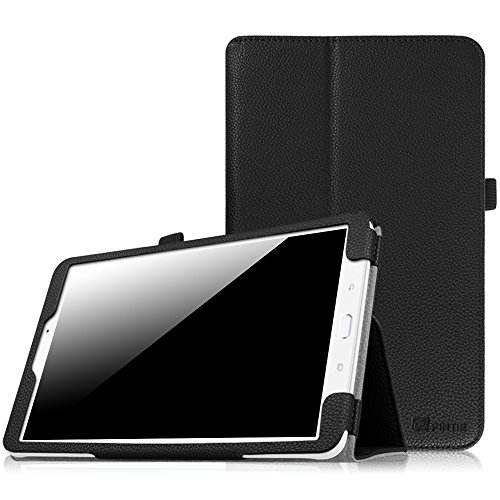 Fintie Hülle Case für Samsung Galaxy Tab E T560N / T561N 24,3 cm (9,6 Zoll) Tablet-PC - Slim Fit Folio Kunstleder Schutzhülle Cover Tasche mit Ständerfunktion, Schwarz
