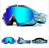 Shinmax Lunettes de Ski Lunettes Coupe-Vent, Unisexe Motocross Sports Lunettes (Rouge)