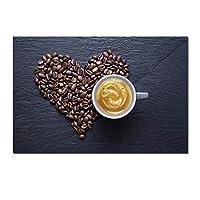 """リビングルームのコーヒーウォールアートポスターキッチンの装飾写真モダンな家の装飾HDキャンバス絵画40x60cm / 15.7""""x23.6""""フレームなし"""