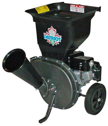 Patriot Products CSV-3065B 6.5 HP Briggs & Stratton Gas Powered Wood Chipper/Leaf Shredder