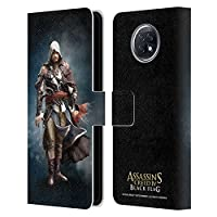 Head Case Designs オフィシャル ライセンス商品 Assassin's Creed Edward Kenway Black Flag キャラクター Xiaomi Redmi Note 9T 5G 専用レザーブックウォレット カバーケース