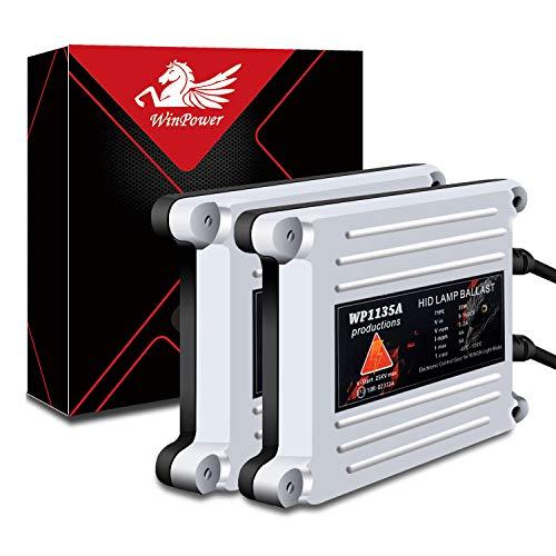 WinPower 35W Wechselstrom (Wechselstrom) HID Xenon-Scheinwerfer-Vorschaltgerät Universal Fit für H11 H8 H9 9006 9005 H1 H3 H4 H7 H13, 2 Stück