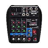 ACHICOO 調音材 アクセサリ ミキシングコンソールステージ Bluetooth 録音 4チャンネル パフォーマンスファミリー Kソング オーディオミキサー U.S plug