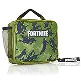 Fortnite Bolsa para El Almuerzo, Diseño Color Verde, Mochila para Llevar Comida para Fans De los Videojuegos, Trabajo Colegio Excursión, Regalos Niños Adolescentes