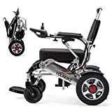 Electric wheelchair,12AH20A250W dual motor 360° direction control lever, lightweight aluminum alloy multi-function folding