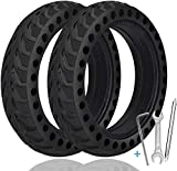 TOPOWN 2 pcs Solid Tire for Xiaomi m365 electric scooter gotrax gxl/gotrax XR with 3 installation tools, 8.5 inches Electric Scooter Solid Tires, with installation instructions and installation video