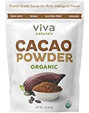 Viva Naturals #1 Best Selling Certified Organic Cacao Powder from Superior Criollo Beans, 1LB Bag