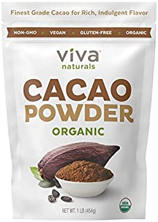 Viva Naturals #1 Best Selling Certified Organic Cacao Powder from Superior Criollo Beans, 1 LB Bag (B00HES9CMS) | Amazon price tracker / tracking, Amazon price history charts, Amazon price watches, Amazon price drop alerts
