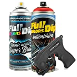 AutoFullCar - Pintura ANTICALÓRICA Acrílica Brillo Full Dip para Pinzas DE Freno - 2 x Spray 400 ml (Rojo Brillo)