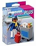 PLAYMOBIL Especiales Plus - Azafata de Vuelo con Carrito de Servicio, Set de Juego, 10 x 3,5 x 12,5 cm, (4761)