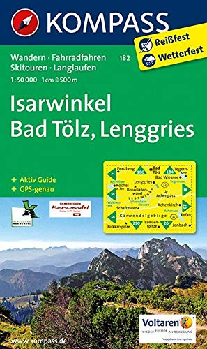 KOMPASS Wanderkarte Isarwinkel - Bad Tölz - Lenggries: Wanderkarte mit Aktiv Guide, Radwegen und Skitouren. GPS-genau. 1:50000 (KOMPASS-Wanderkarten, Band 182)