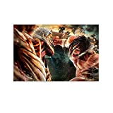 xiaoxiami Póster decorativo de Attack on Titan Shingeki No Kyojin para pared, lienzo decorativo para sala de estar, dormitorio, 30 x 45 cm