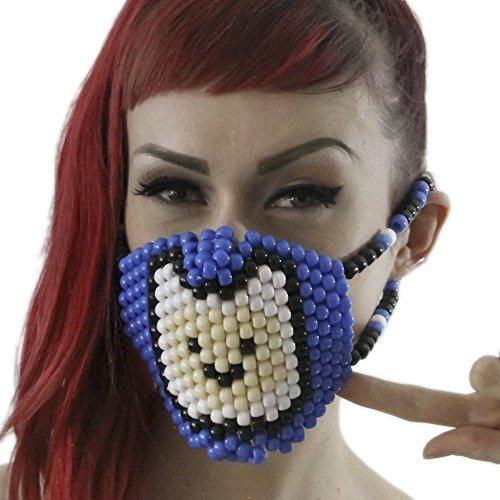 Kandi Gear Mascara Kandi Quirurjica de Finn El Humano, mascara kandi, pulcera de rave, mascara para halloween, mascara con cuentas, mascara praa festivales musicales y fiestas