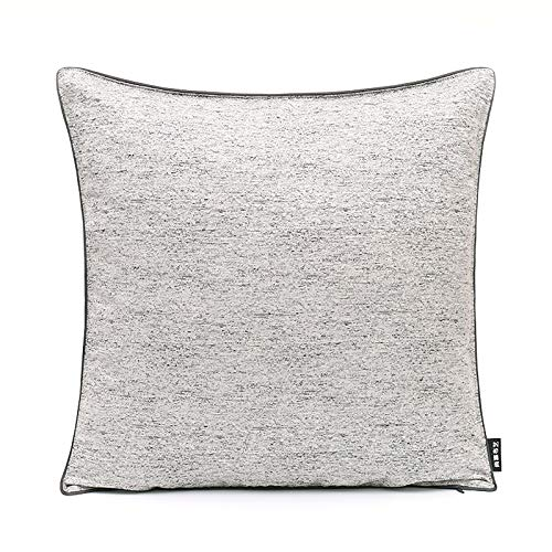 Cushion Covers Bedroom Sofa Decoration Square Pillowcase Light Grey 45X45Cm With Core