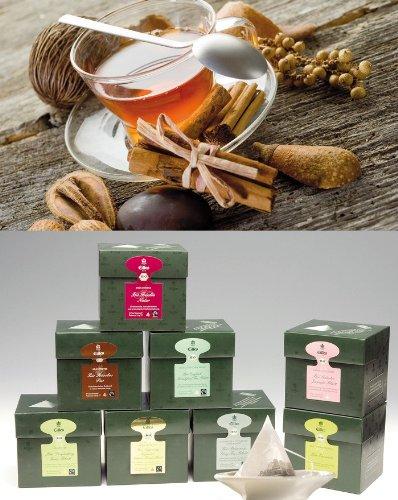 WINTERZEIT EILLES Tea Diamonds Probierset mit gratis Teeglas und großem GOURVITA Cookie (Sparset 6 Schachteln mit je 20 Beutel Tee)