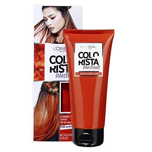 LOréal Paris Colorista Washout 2 Semaines Couleur Temporaire pour Cheveux Orange