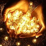 OSALADI luce a palloncino a led mini palloncino a sfera rotonda a led luce a led per palloncino di natale lanterna di halloween (100 pezzi luce calda)