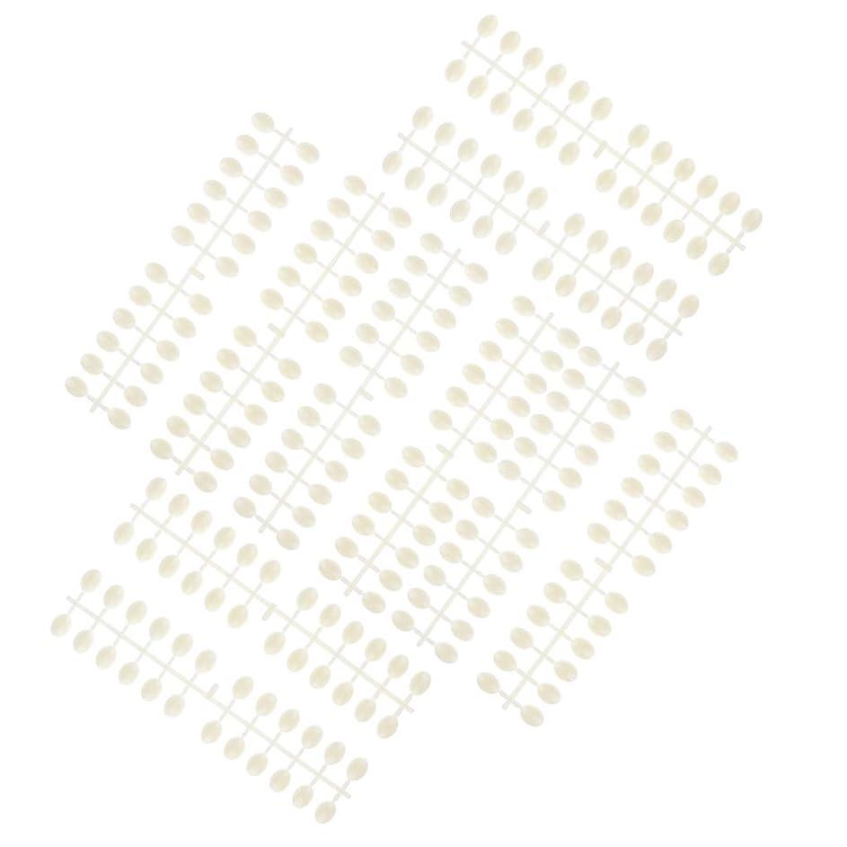 ショッキング所持撤退B Baosity 10枚 ネイルアートチップ カラーカード プロ マニキュア 3タイプ選べ - ラウンドビーズ