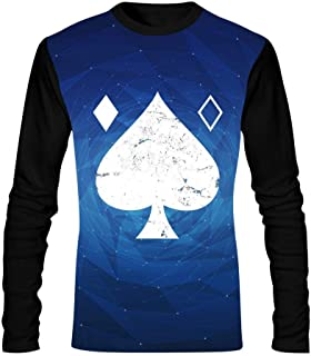 Men's T-Shirts Destiny 2 Ace of Spades Casual Long Sleeve Shirt Boys Comfortable Tee Shirt