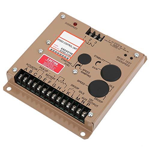 Regulador de velocidad, diseño de equipo electrónico completo de piezas de grupo electrógeno con 1 controlador de velocidad 1 X Manual de usuario para regulador de controlador de velocidad