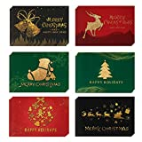 Cartoline di Natale,24 Biglietto Auguri Natale con Buste e Adesivi da Busta, Regalo Natale Cartoline, Cartolina di Natale per Salutare Familiari, Amici e Colleghi.