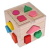 TOPINCNパズルボックス 木製玩具 赤ちゃん 型はめ キッズ 積み木 ブロック マッチング……