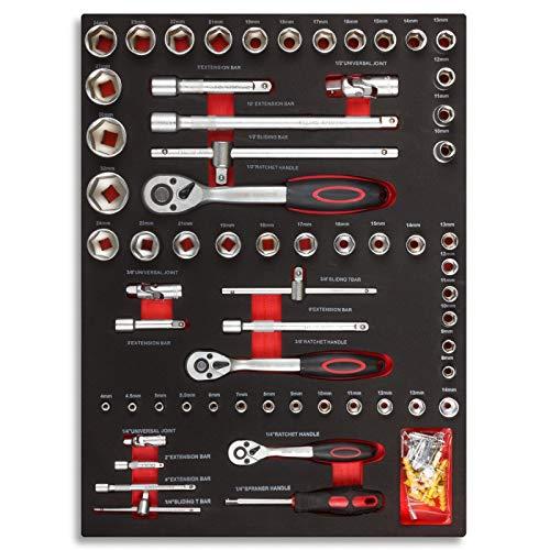 hanSe® Werkstattwagen gefüllt 245-teilig Werkzeug Werkstatt - 3