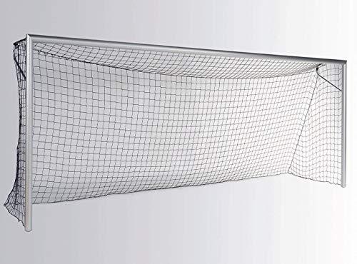 Haspo Fußballtor - Bundesliga - 7,32 x 2,44 m - mit Netzbügel, Farbe:weiß