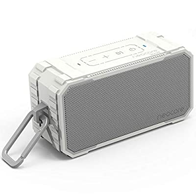 neocore WAVE A1 Portable Wireless Bluetooth Speaker, 24+ Hour Playtime,SD Card Support, Stereo Dual-Driver, 10W, 20m/66ft Range Subwoofer Enhanced Bass, Waterproof (White)) by Neocore