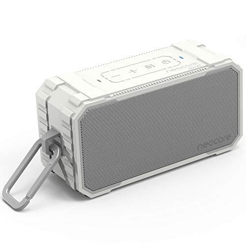 Neocore WAVE A1 Altavoz Bluetooth Portátil, Inteligente e Impermeable para la Ducha o el Exterior con 24 Horas de Duración y Ranura SD 256GB (Blanco)