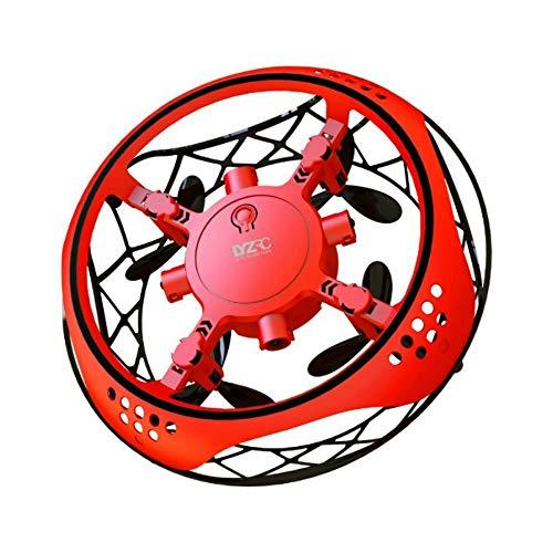 LOGO Mini-Drohne vierachsigen Flugzeug Fall feste Suspension Flugzeug UFO Gesture Sensor Spielzeug Jungen und Mädchen Non-Fernbedienung Flugzeug Tragbare Geburtstagsgeschenk Ufo Induction Drone Finger
