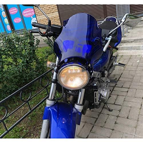 Spoiler Windschutzscheibe Windschutzscheibe Schirm Fit For 2004-2019 Yamaha YBR 125 250 YBR125 YBR250 ED SPD Scheinwerfer Seitenmontagewinkel (Color : Blue)