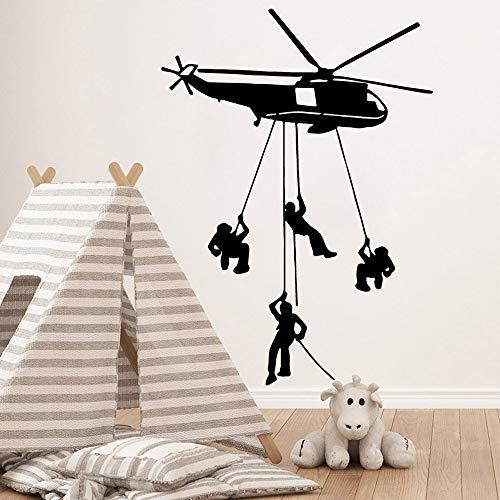 Tianpengyuanshuai helikopter muursticker vinyl afneembare kamerdecoratie kinderkamer hoofddecoratie achtergrond muursticker