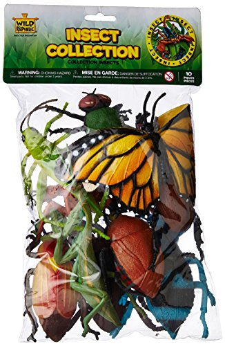 Wild Republic Insect Polybag, Kids Gifts, Educational Toy, Party Favors, 10 Pieces