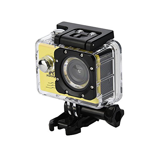 Vithconl Waterproof HD 4K Action Camera with Wi-Fi, Support Smart Phone Live Stream and Remote Control - 12 Mega Sensor, 170°A+ Wide-Angle Lens | Bundled with Full Accessories