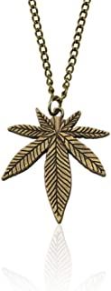 OETY Creative Exquisite Leaf Pendant Necklace Trendy Maple Leaf Chain Pendant For Women Men Fashion Ladies Party Jewelry