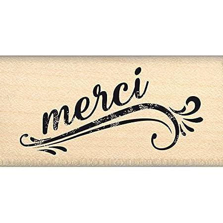 Florilèges Design FC216088 Tampon Merci Grunge, Bois, 3 x 6 x 2,5 cm