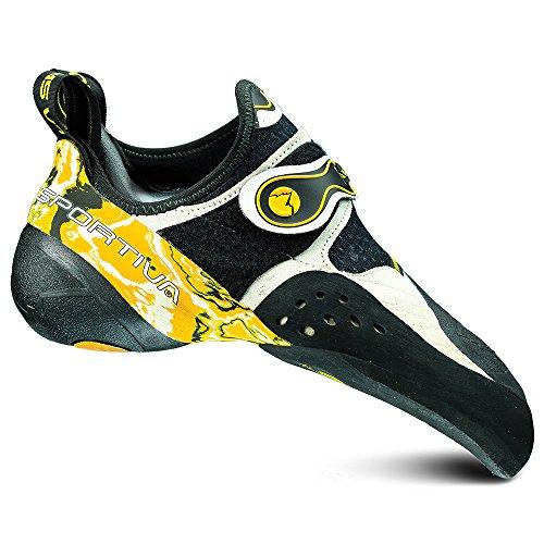 La Sportiva Solution Climbing Shoe White/Yellow - 43.5