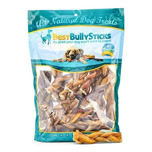 All-Natural 4-5 Inch Braided Bully Sticks by Best Bully Sticks (1 Pound) by Best Bully Sticks