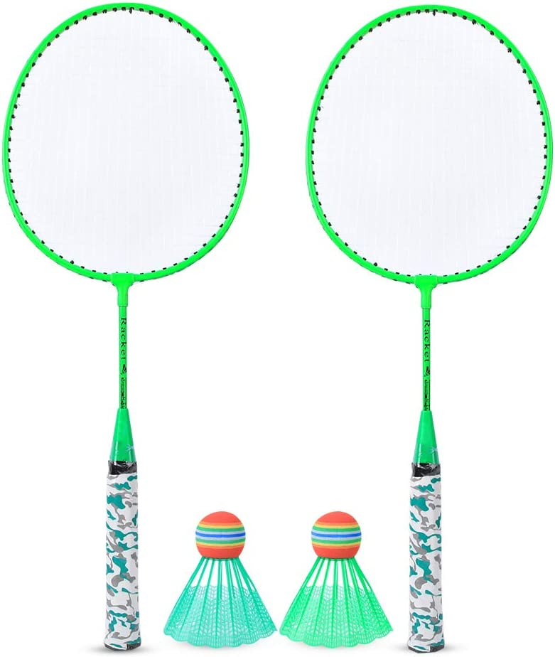 DaMohony Children Badminton Racket with Spo 2 OFFicial mail order Easy-to-use Outdoor Balls Set