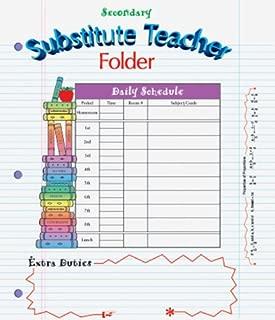 substitute teacher folders secondary