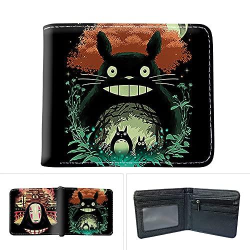 IIPP My Neighbor Totoro Large Capacity Wallet Full Color Printed Short Card Holder Change Wallet Bag Hayao Miyazaki Anime,Style 5