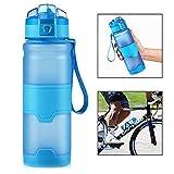 Xrten Borraccia Sportiva,500ml/17oz Borraccia Sportiva per Bambini Bottiglie di Plastica a Prova di Perdite Borracce con Filtro