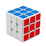 HJXDtech Moyu YJ 3x3x3 Velocidad Cubo Mejorado Anti-Pop Estructura Lisa Cubo magico Puzzle para Competición (Blanco)